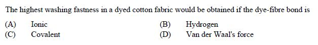 online practice test - Textile Engineering and Fibre Science
